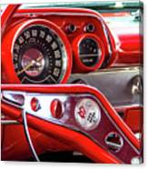 1957 Chevy Bel Air Stering Wheel  Canvas Print