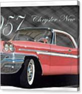 1957 Chrysler New Yorker Canvas Print