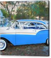 1957 Ford 2 Door Fairlane C130 Canvas Print