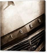 1957 Ford Custom 300 Series Ranchero Hood Ornament - Emblem -0477s Canvas Print