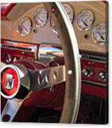 1957 Ford Fairlane Steering Wheel Canvas Print