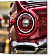 1957 Ford Thunderbird Red Convertible Canvas Print