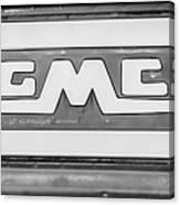 1957 Gmc Pickup Truck Tail Gate Emblem -0272bw2 Canvas Print