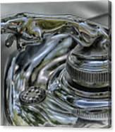 1957 Jaguar Roadster Hood Ornament Canvas Print