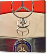 1957 Mercedes-benz 220 S Hood Ornament Canvas Print