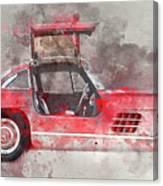 1957 Mercedes Gullwing Canvas Print