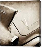 1958 Cadillac Eldorado Biarritz Taillight Emblems -0255s Canvas Print