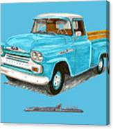 Apache Pick Up Truck Canvas Print