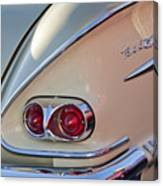 1958 Chevrolet Belair Taillight Canvas Print