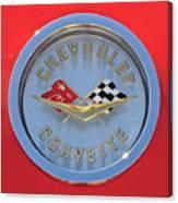 1958 Chevrolet Corvette Emblem Canvas Print