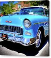1955 Chevy Baby Blue Canvas Print