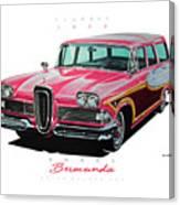 1958 Edsel Bermuda Canvas Print
