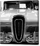 1958 Edsel Pacer Black And White Canvas Print