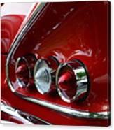1958 Impala Tail Lights Canvas Print
