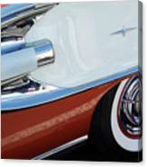 1958 Pontiac Bonneville Wheel Canvas Print