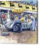 1958 Targa Florio Porsche 718 Rsk Behra Scarlatti 2 Place Canvas Print