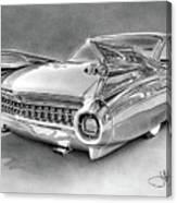 1959 Cadillac Drawing Canvas Print