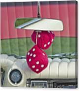 1959 Cadillac Eldorado Fuzzy Dice Canvas Print