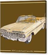 1959 Chevrolet Impala Convertible Canvas Print