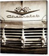 1959 Chevrolet Impala Grille Emblem -1014s Canvas Print