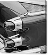 1959 Dodge Custom Royal Super D 500 Taillight -0233bw Canvas Print