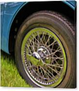 1959 Jaguar X K 150s Wire Wheel Canvas Print