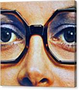 1960 70 Stylish Female Glasses Advertisement 4 Canvas Print