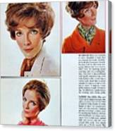 1960 70 Stylish Female Hair Styles Brown Mature Lady Canvas Print