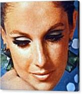 1960 70 Stylish Lady In Blue Canvas Print
