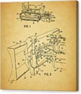 1960 Bulldozer Patent Canvas Print
