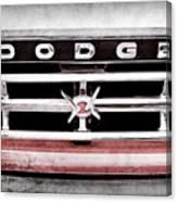 1960 Dodge Truck Grille Emblem -0275ac Canvas Print
