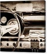 1960 Maserati 3500 Gt Spyder Steering Wheel Emblem -0407s Canvas Print
