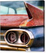 1961 Cadillac Tail Light And Fin Canvas Print