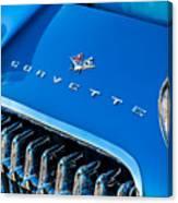 1961 Chevrolet Corvette Zob Grille Canvas Print