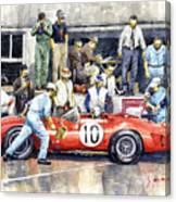 1961 Le Mans 1961 Ferrari 250 Tri Olivier Gendebien Phil Hill Winner  Canvas Print