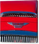 1962 Austin Healey 3000 Mk II Hood Emblem -0324c Canvas Print