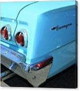 1962 Chevy - Chevrolet Biscayne Logos And Tail Lights Canvas Print