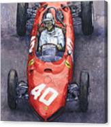 1962 Monaco Gp Willy Mairesse Ferrari 156 Sharknose Canvas Print