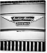 1963 Austin-healey 3000 Mk II Black And White Canvas Print