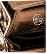 1963 Chevy Impala Ss Sepia Canvas Print