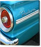 1963 Ford Falcon Tail Light And Logo Canvas Print
