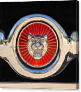 1963 Jaguar Xke Roadster Emblem Canvas Print