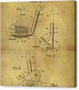 1963 Sand Wedge Patent Canvas Print
