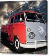 1963 Volkswagen Double Cab Truck Canvas Print