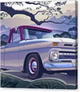 1964 Chevrolet Short Bed Custom Half Ton In The Morning Mist Canvas Print