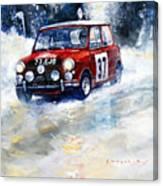 1964 Rallye Monte Carlo Mini Cooper S Hopkirk Liddon Winner Canvas Print