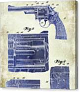 1964 Smith And Wesson Gun Patent Two Tone Canvas Print