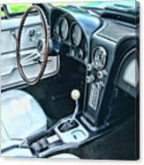 1965 Corvette Inside The Cockpit Canvas Print