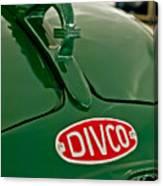 1965 Divco Milk Truck Hood Ornament Canvas Print