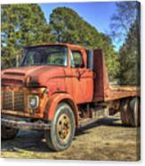 1965 Ford F600 Snub Nose Commercial Truck Canvas Print